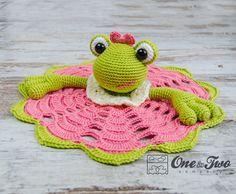 Kelly the Frog Lovey / Security Blanket  PDF Crochet Pattern