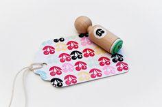 Kersjes Mini stempel met mintkleurige rubber #PinWinSpring