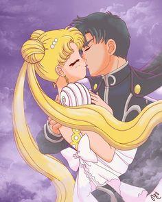"""Sailor Moon"" fan art - Princess Serenity and Prince Endymion."