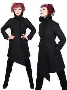 SALE VEX avant garde wool winter coat with by PlastikWrap on Etsy, $300.00