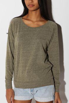 Alternative Apparel Slouchy Pullover Sweatshirt from urban. #wishlist #comfy $38