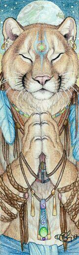 Praying mountain lion