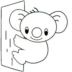 koala bear coloring page - Google Search