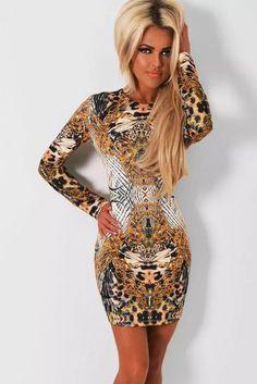 9b3ee727efe6 Sexy Vestido Animal Print Leopardo Fiesta Antro Moda 22516 -   440.00