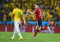 """Con la anotación de penal, son seis los de James Rodríguez los que le ponen a la cabeza de la tabla de anotadores (hasta ahora): «Cuartos de final, 2014 FIFA Copa Mundo Brasil, """"todos en un mismo ritmo""""» [viernes, 04 de julio de 2014]."""