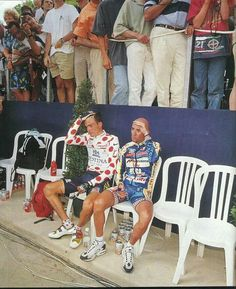Marco Pantani & Richard Virenque ar the TDF...