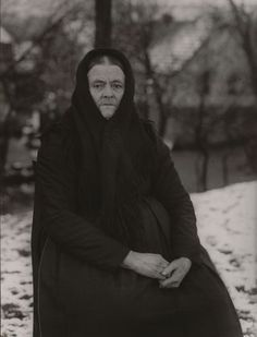 "Peasant Woman  August Sander (German, 1876–1964)    1912. Gelatin silver print, 11 5/8 x 8 7/8"" (29.5 x 22.5 cm). Gift of the photographer. © 2012 Artists Rights Society (ARS), New York / VG Bild-Kunst, Bonn"