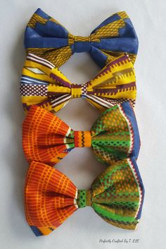 Perfect for Black History Month or for anyone fascinated with African prints, this bow is the ideal accessory.  This custom designed