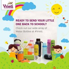 Check out amazing designs of #WaterBottles at #Vrieti. Shop now. Flat 40% offer going on !  Visit our store or Call on: +91 120 4311245  #School #Kidscool #Schoolaccesories #Delhischool #Noida