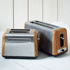 "Market Toasters | west elm - A rugged approach to this everyday appliance gives it a ""manly"" feel."