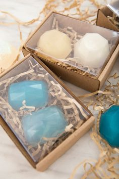We're Obsessing Over These Easy DIY Gemstone Soap Favors!