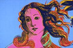 Andy Warhol (American, 1928-1987)    Details of Renaissance Paintings (Sandro Botticelli, Birth of Venus, 1482), 1984     acrylic and silkscreen ink on linen    48 x 72 in. (121.9 x 182.9 cm.)    The Andy Warhol Museum, Pittsburgh; Founding Collection, Contribution The Andy Warhol Foundation for the Visual Arts, Inc.    © The Andy Warhol Foundation for the Visual Arts, Inc.    1998.1.307