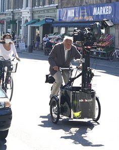 Old Man, camera rig on a Nihola cargo bike