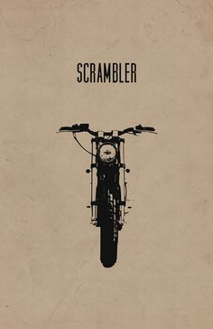 "Limited Edition ""Scrambler"" Motorcycle Poster on 100% Recycled Card Stock (11x17 in) #scrambler #offroad"