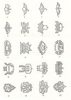 Symbols and ornamental motives in folk art of Moldova - Photo gallery Moldova, Traditional Art, Embroidery Patterns, Folk Art, Photo Galleries, Symbols, Ornaments, Spoons, Tattoos