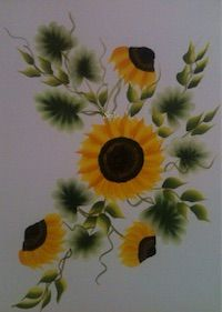 Painting | Decorative | Sun Flower One Stroke Painting | CardsNCrafts