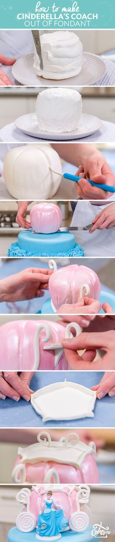 Get sculpting! Make a coach fit for Cinderella with fondant details. Beautiful design for the advanced cake decorator.