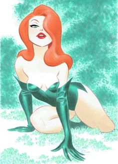 "Poison Ivy ""Batman"" by Bruce Timm."