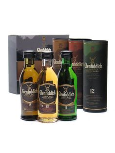 Glenfiddich Mini Pack / 12 Year Old, 15 Year Old & 18 Year Old Miniature : Buy Online - The Whisky Exchange - A gift pack of three miniature bottles of Glenfiddich - their best-selling 12 year old, 15 year old Solera matured and the elegant 18 year old.