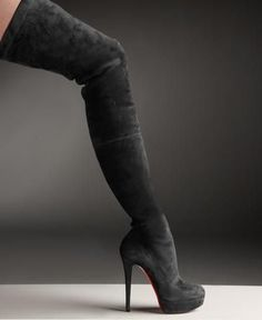 Christian Louboutin- over-the-knee boots. wow shoegasm!