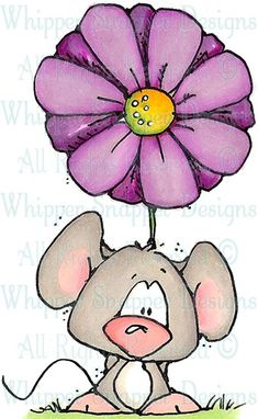 Miss Swiss - Mice - Animals - Rubber Stamps - Shop