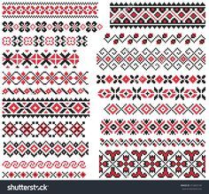 stock-vector-set-of-red-and-black-ethnic-patterns-for-embroidery-stitch-312843140.jpg (1500×1394)