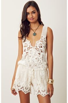 lovely lace romper.