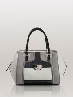 GUESS Sheena Box Satchel, BLACK MULTI « Holiday Adds