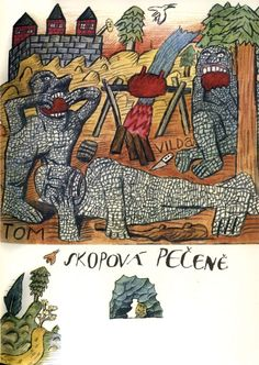 In 1979, when he was forty-four — the same age Tolkien was when he published The Hobbit — the Czech artist, graphic designer, and illustrator Jiri Salamoun was commissioned to illustrate a Czech edition of the book. He brought his eclectic background in visual storytelling and the graphic arts — spanning film poster design, typography, book illustration, and silk-screen printing — to the project.