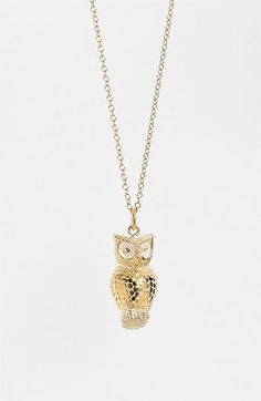 Anna Beck 'Animals' Long Owl Pendant Necklace Pinned by www.myowlbarn.com