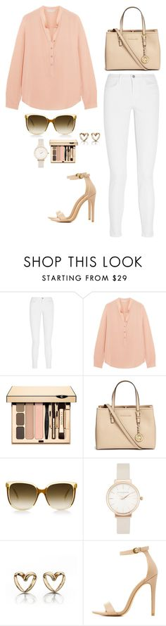 """Casual"" by pink-chick ❤ liked on Polyvore featuring J Brand, STELLA McCARTNEY, Clarins, Michael Kors, Olivia Burton and Charlotte Russe"