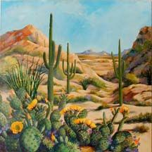 42 Ideas desert landscape art inspiration for 2019 Landscape Artwork, Landscape Quilts, Landscape Drawings, Watercolor Landscape, Desert Landscape, Cactus Pictures, Southwestern Art, Desert Art, Cactus Art