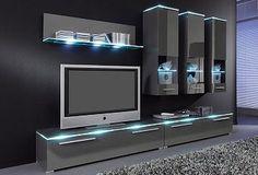 10 veces he visto estas radiantes muebles minimalistas. Wall Unit Designs, Living Room Tv Unit Designs, Living Room Wall Units, Tv Unit Decor, Tv Wall Decor, Wall Decor Design, Tv Cabinet Wall Design, Modern Tv Cabinet, Modern Tv Room