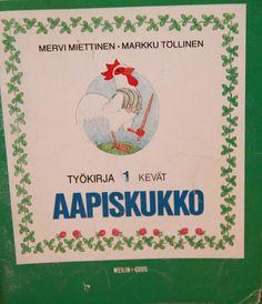 aapiskukko school book Good Old Times, Ancient History, Adhd, Vintage Children, Finland, Childhood Memories, Retro Vintage, Nostalgia, Old Things