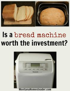 Is a bread machine worth the investment? Check out how much it costs for us to make a loaf of homemade bread and if a bread machine is worth it. |  Montana Homesteader
