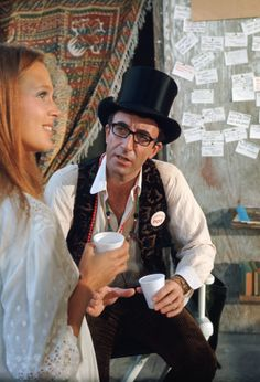 Peter Sellers and Leigh Taylor-Young on the set of I Love You, Alice B. Toklas (1968)