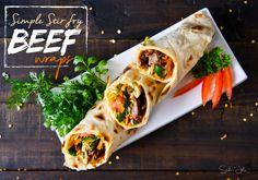 Simple Stir-fry Beef Wraps