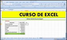 Como criar uma coluna com Percentagem ou Porcentagem no Excel. Cálculo da % no Excel. Aula comentada com Exemplo Básico para Enem Exame Nacional do Ensino Médio, Vestibular, Concurso Público e Curso de Graduação. Curso de Excel, Estatística e Matemática.  https://youtu.be/v1nuasajzzg