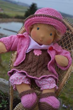 ❀✿❀ Baby  Sonnenscheinchen ♥ Puppenkind 36 cm ❀✿❀ von Hermis Puppenstube  - ♥ -  Puppenmachen ist Herzenssache - ♥ - Stoffpuppen zum Liebhaben gemacht ! auf DaWanda.com