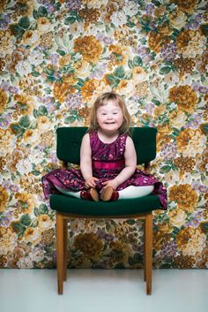 Little girl with Down's Syndrome smiling
