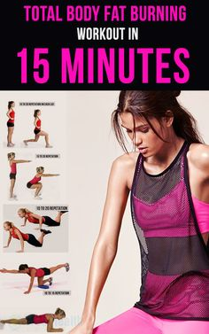 Total #body #fat #burning #workout in 15 minutes. : #ab_workouts #cardio #crossfit #exercise #woman_fitness