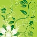 Flowers and swirls Vector Graphic Romantic Love Sms, Mandala Sketch, Vector Design, Graphic Design, Wraps, Scrapbooking, Pretty Green, Free Vector Graphics, Green Flowers