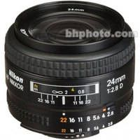 Nikon Wide Angle AF Nikkor 24mm f/2.8D Autofocus Lens. This lens would be great for room shots!