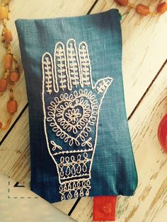Embroidered hand