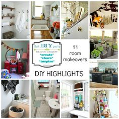 11 room makeovers - That DIY Party Highlights - diyshowoff.com