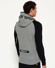 Superdry Gym Tech Raglan Hoodie Grey