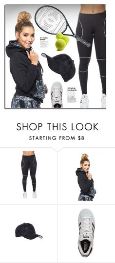 """""""Game, Set, Match!"""" by gogenx ❤ liked on Polyvore featuring Chanel, adidas, black and sporty"""