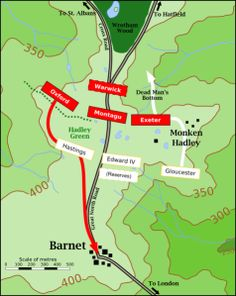 Battle of Barnet. Arguably the only historic battle site in Greater London, the Battle of Barnet was a decisive battle in the War of the Roses. It was significant because Edward IV's victory led to 14 years of Yorkist rule in England.  It is also potentially significant as one of the earliest battles to have used artillery