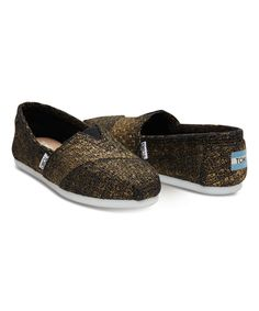 Look at this TOMS Bronze Glitter Wool Classics on #zulily today!