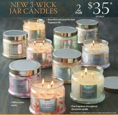 The new 3-wick jars are finally here Www.partylite.biz/janahumphries